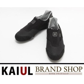 シャネル 靴 スポーツライン スニーカー ブラック 黒 シルバースエード メッシュ レディース 新品・未使用品/Sランク