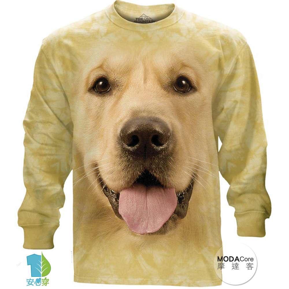 美國進口The Mountain 大黃金獵犬臉 純棉長袖T恤