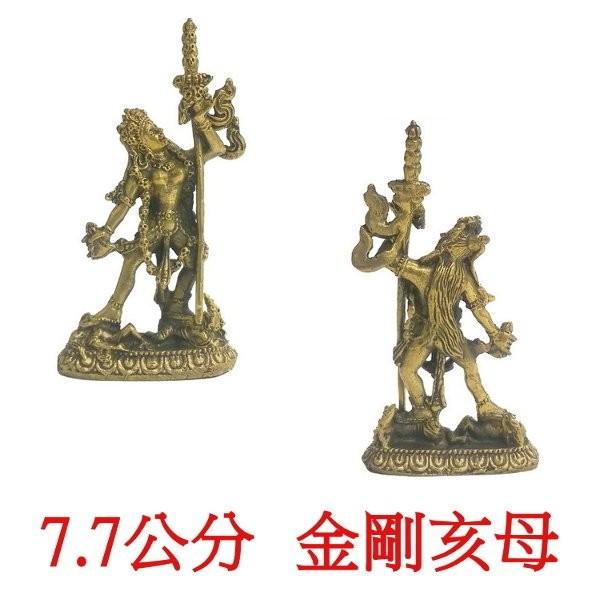 金剛亥母 多傑帕母 7.7公分 佛像法像-古銅色