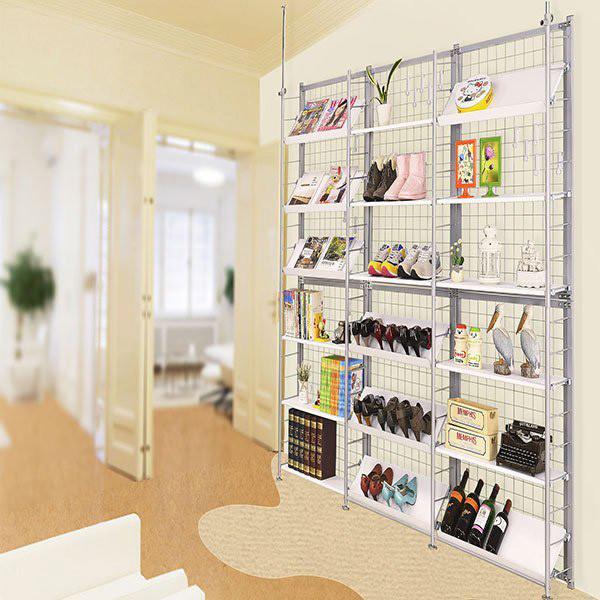 巴塞隆納k666型伸縮屏風衣櫥架展示架置物架