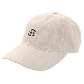 【Super Sports XEBIO & mall店:帽子】リネン刺繍キャップ LIFE 897PA9ST1768 NTL