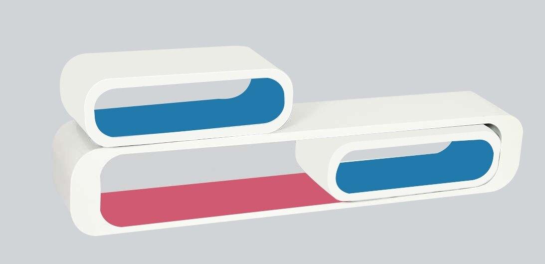 雙色E1 造型長方格 置物架/厚度1.8cm **出清五折價**