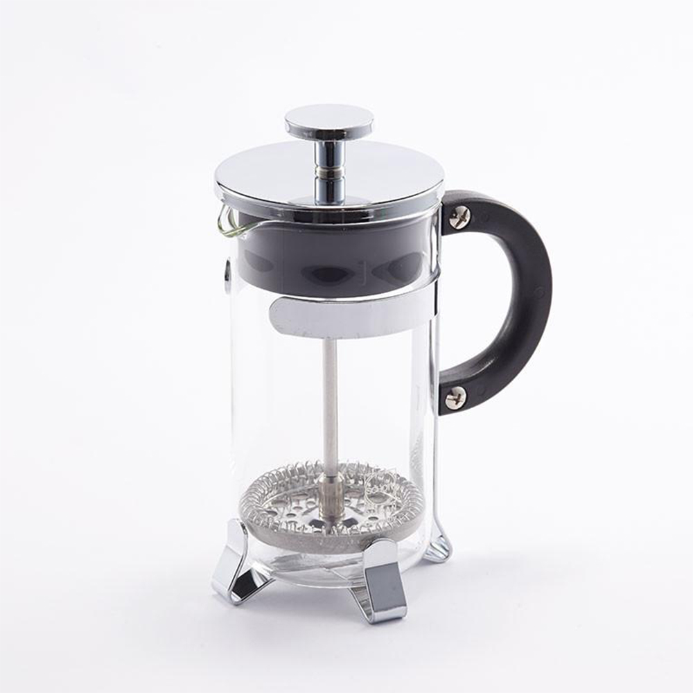 【台灣製造】 耐熱玻璃法式濾壓壺(奶泡器) 350ml