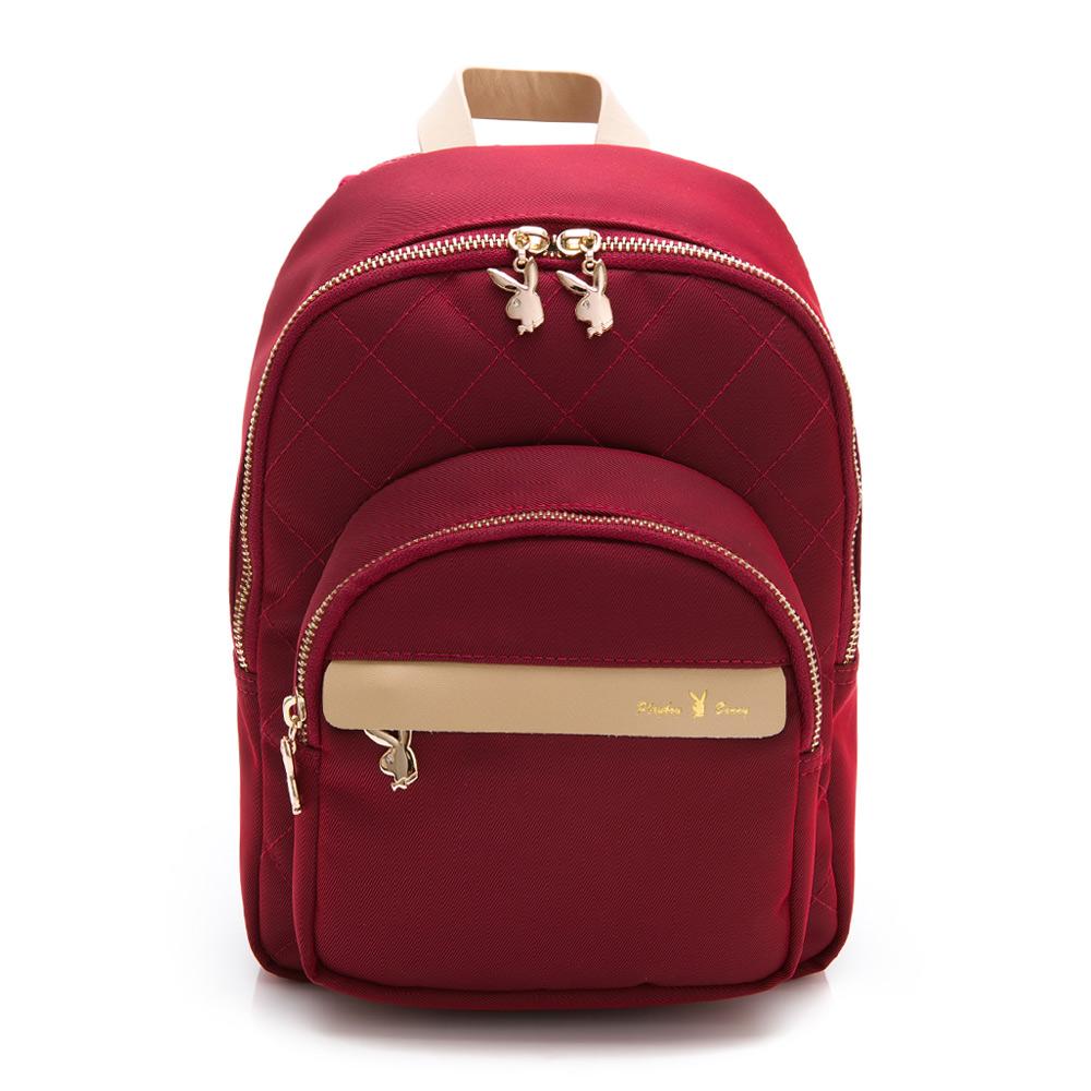PLAYBOY- 小後背包 質感新生活系列 -紅色