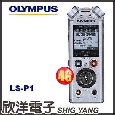 ※ 欣洋電子 ※ Olympus LS-P1 數位錄音筆 (4GB可擴充) / 德明公司貨保固18個月