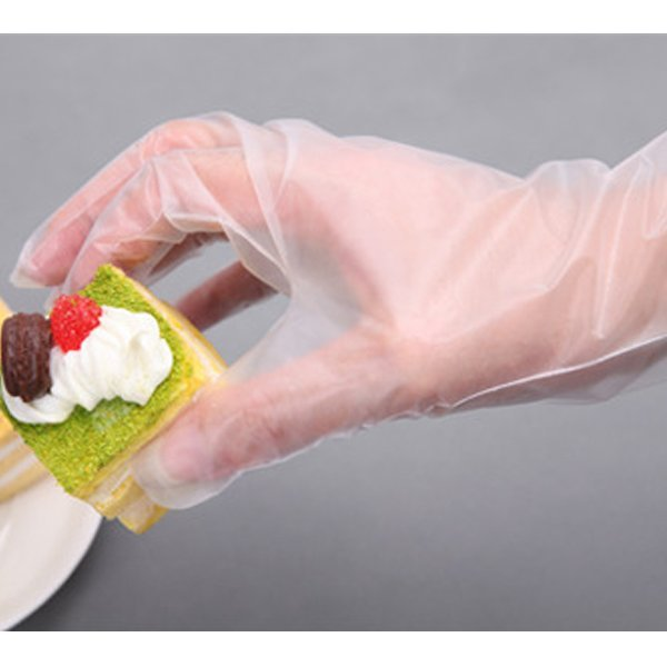 BO雜貨【SV9506】餐飲食品級一次性手套 透明手套 衛生手套 美容家務清潔衛生手套 100入