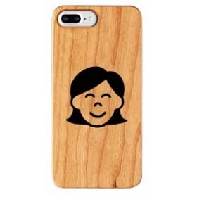 iPhone8Plus ケース iPhone7Plus ケース iPhone6sPlus ケース わかる ウッドケース Gizmobies 女の人 お取り寄せ