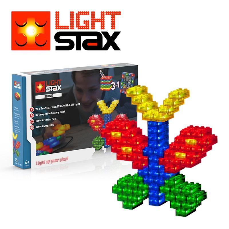 創意LED積木(蝴蝶3合1+聲控底座)