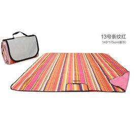 WallFree窩自在 防水耐磨戶外郊遊野餐墊/遊戲毯(大尺寸150*180CM)-紅條紋