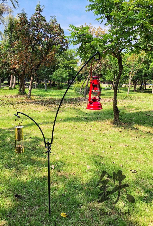 【野道家】鉄 Iron Work 月掛套裝組  露營燈架 燈桿