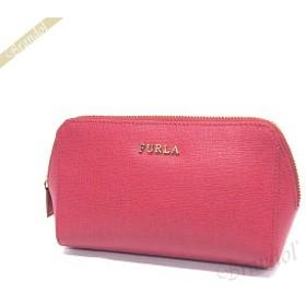 フルラ FURLA ポーチ レディース エレクトラ レザー コスメポーチ レッド系ピンク EM32 B30 RUB / 850683