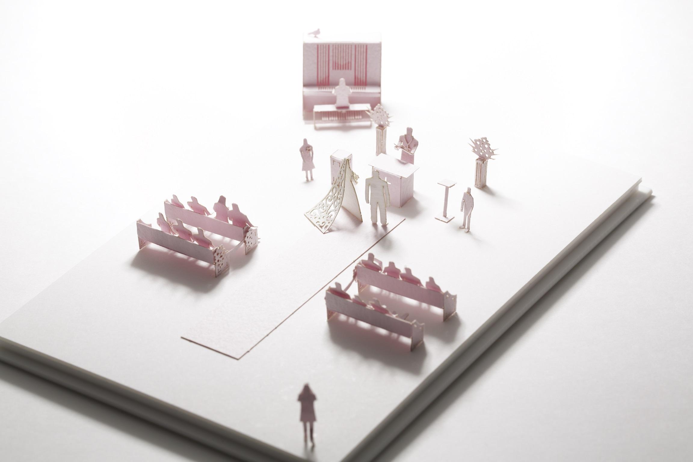 【寺田模型】建築紙模型33 婚禮 求婚 手作DIY  交換禮物