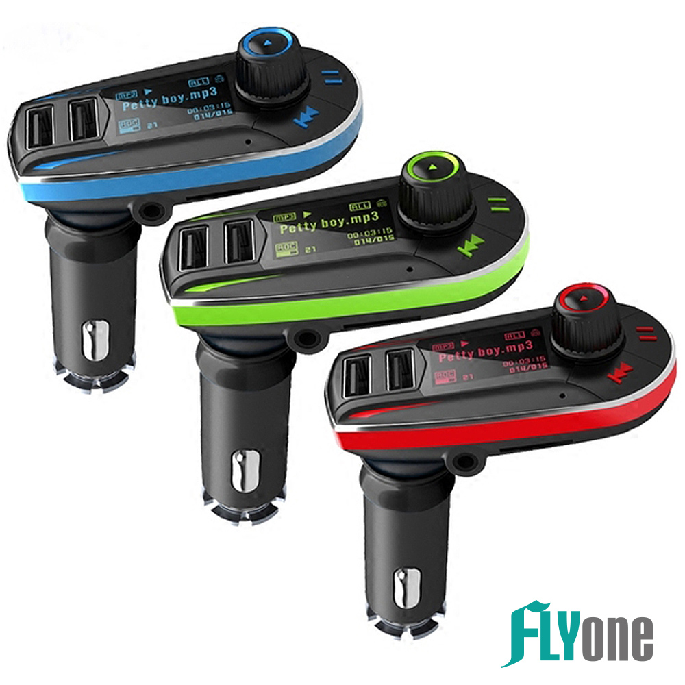 FLYone FM-W6車用免持/藍芽轉FM音樂傳輸器/MP3音樂播放器【專利認證:M515247】