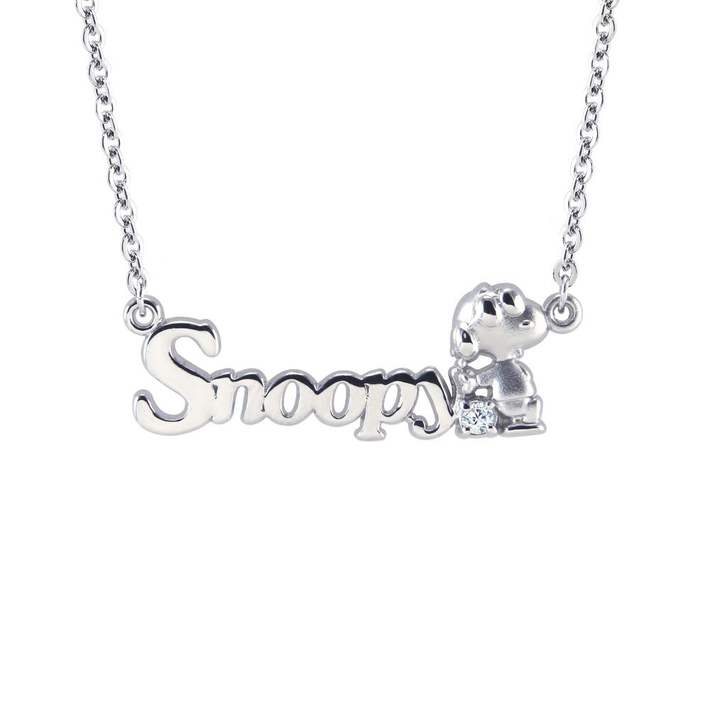 史努比SNOOPY-個性刻字-客製純銀項鍊