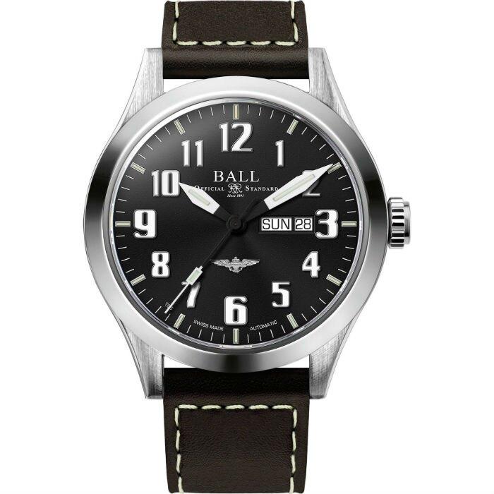 BALL 波爾錶 NM2180C-L2J-BK Engineer III Silver Star 紳士機械腕錶/黑面 46mm