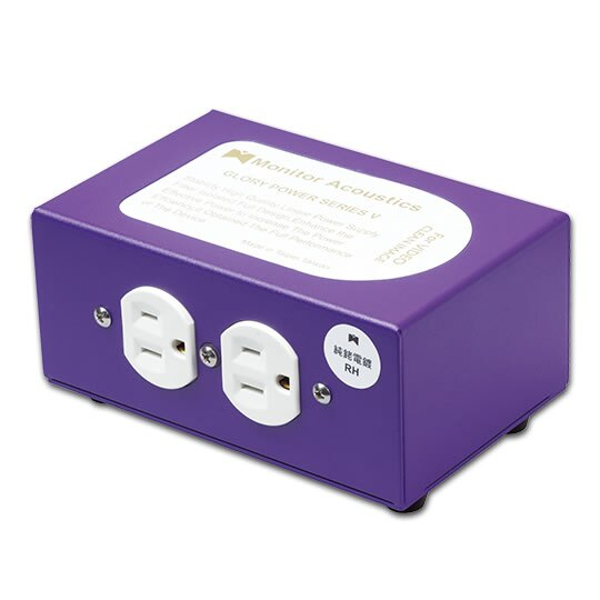 志達電子 GLORY V 靜神 Monitor Acoustics 兩孔電源清淨處理器(for Video 影像專用)減少雜訊顆粒感,提升畫質細膩度與色彩