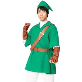 なりキャラ研究部 なり研 時の剣士 なりきり 男女兼用 グリーン ホワイト スパッツ キャラクター風 おもしろ 仮装 変装 コスプレ コスチューム
