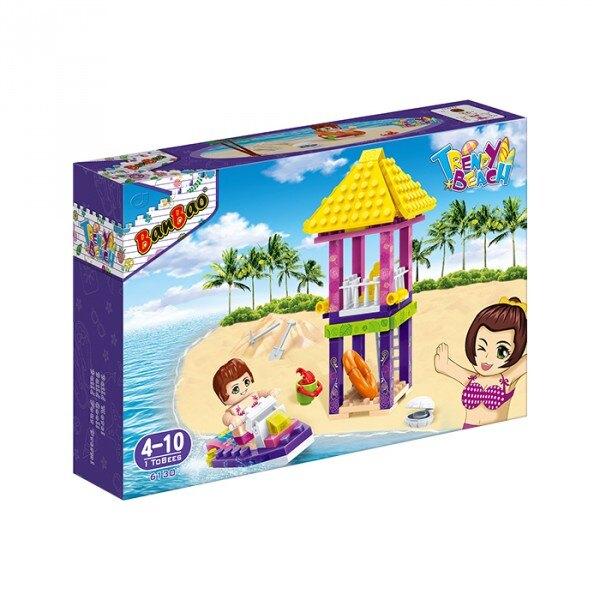 【BanBao 積木】6130 沙灘女孩系列-救生看台