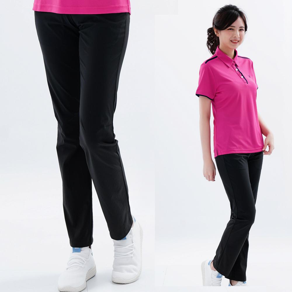 【遊遍天下】女款彈性涼感抗UV長褲GP10001黑色