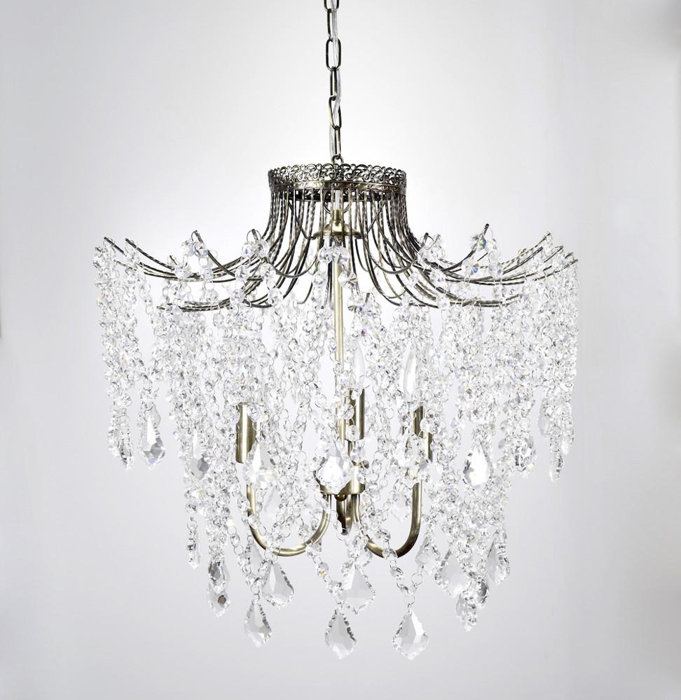 古銅透明水晶珠吊燈