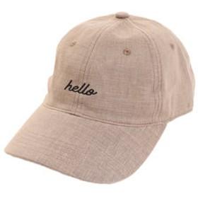 【SALE/送料無料】【Super Sports XEBIO & mall店:帽子】リネン刺繍キャップ hello 897PA9ST1705 BRN