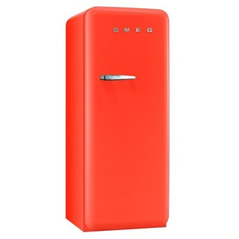 SMEG(スメッグ) 1ドア冷凍冷蔵庫268L/右開き オレンジ FAB28UORR1