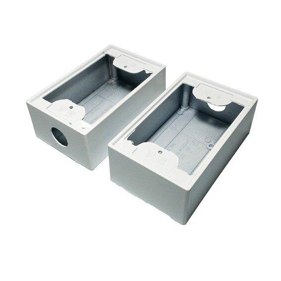 一聯明盒 美術盒明BOX 便當盒 插座盒 開關盒 接線盒 白色烤漆(一個)