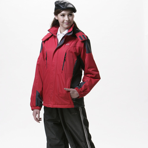sain sou防水/防風/透氣/可拆式防風帽兩件式外套(中性款)t27130