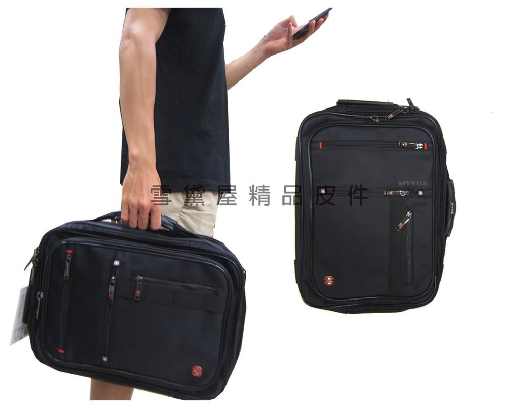 spywalk 文件包三用後背大容量防水尼龍布手提肩背斜側背後背可a4資夾14吋電腦附活動型長背帶