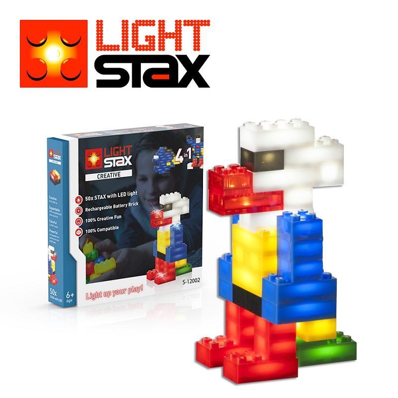 創意LED積木(鸚鵡4合1+聲控底座)