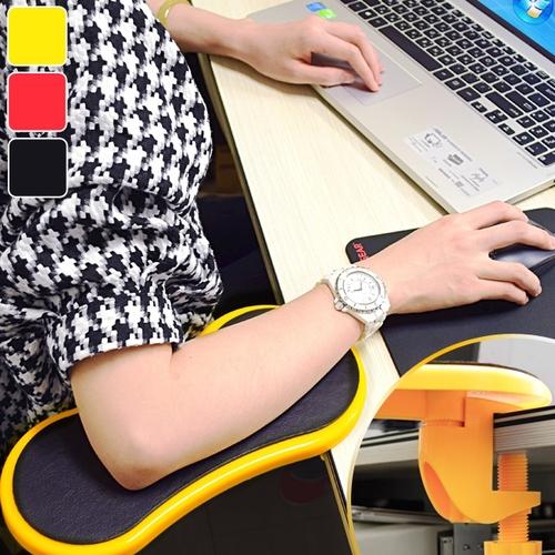 桌上手臂支撐架(電腦支架子.桌用旋轉滑鼠托架.護腕墊護臂托手托板.人體工學手腕