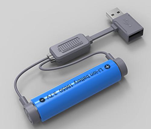 【日本代購】IVYJANE  18650 USB磁吸充電器 3.7v通用充電寶 智能移動電源