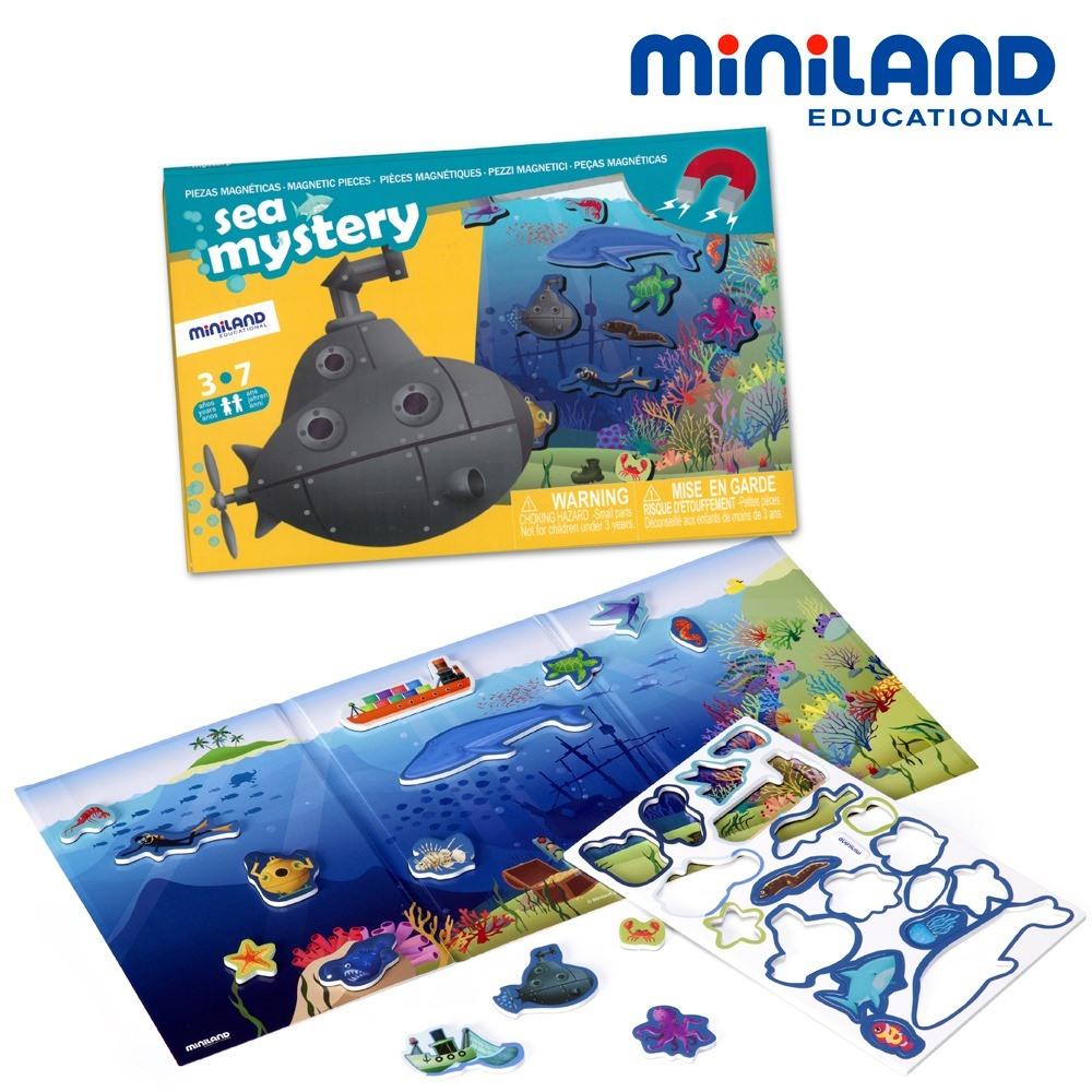 西班牙Miniland 深海尋寶磁鐵遊戲板