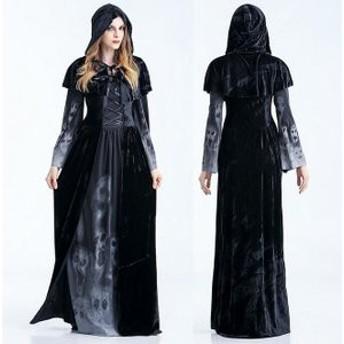 ハロウィン 悪魔 ゾンビ 髑髏 コスプレ衣装 鬼新婦 女性用 吸血鬼 巫女 ウェディングドレス コスチューム 仮装 パーティー ホラー ゲーム