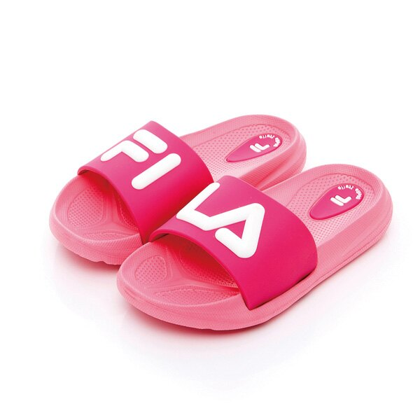 FILA 中童MD撞色拖鞋-粉紅(16~21cm)好窩生活節