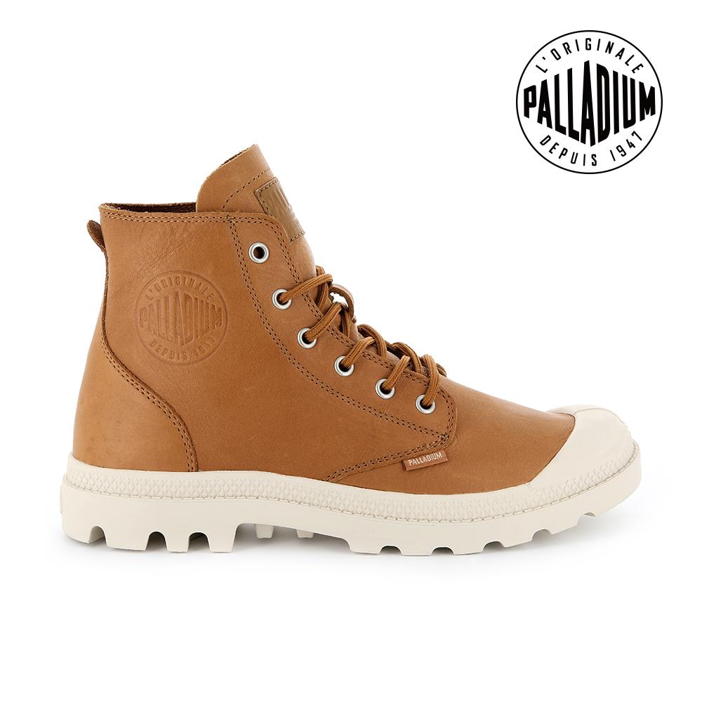 PALLADIUM PAMPA HI LTH UL經典皮革靴-男-咖啡