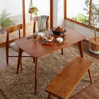 【お買い得!】ウォルナット材のコンパクトダイニングテーブル