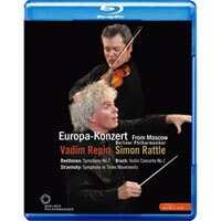 2008歐洲音樂會 柏林愛樂重返莫斯科 Rattle conducts Beethoven, Stravinsky & Bruch (藍光Blu-ray) 【EuroArts】