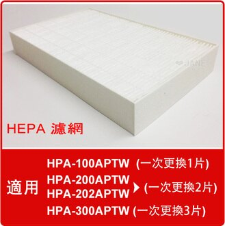 HEPA濾心(2入)適用Honeywell HPA-100APTW/HPA-200APTW/HPA-202APTW/HPA-300APTW等機型(同HRF-R1)