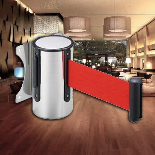 【企隆】E86-B2 壁掛式伸縮圍欄(200CM) 開店 欄柱 紅龍柱 圍欄 排隊 動線規劃
