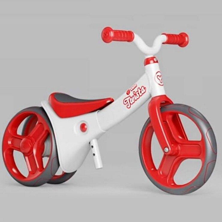 【領券3012】YVolution Velo Junior 平衡滑步車-扭輪款 紅