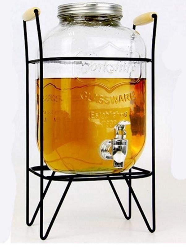 5公升果汁罐mason jar野餐玻璃 果汁桶 梅森罐 啤酒桶 飲料桶 鐵蓋字母果汁瓶 夏天派對