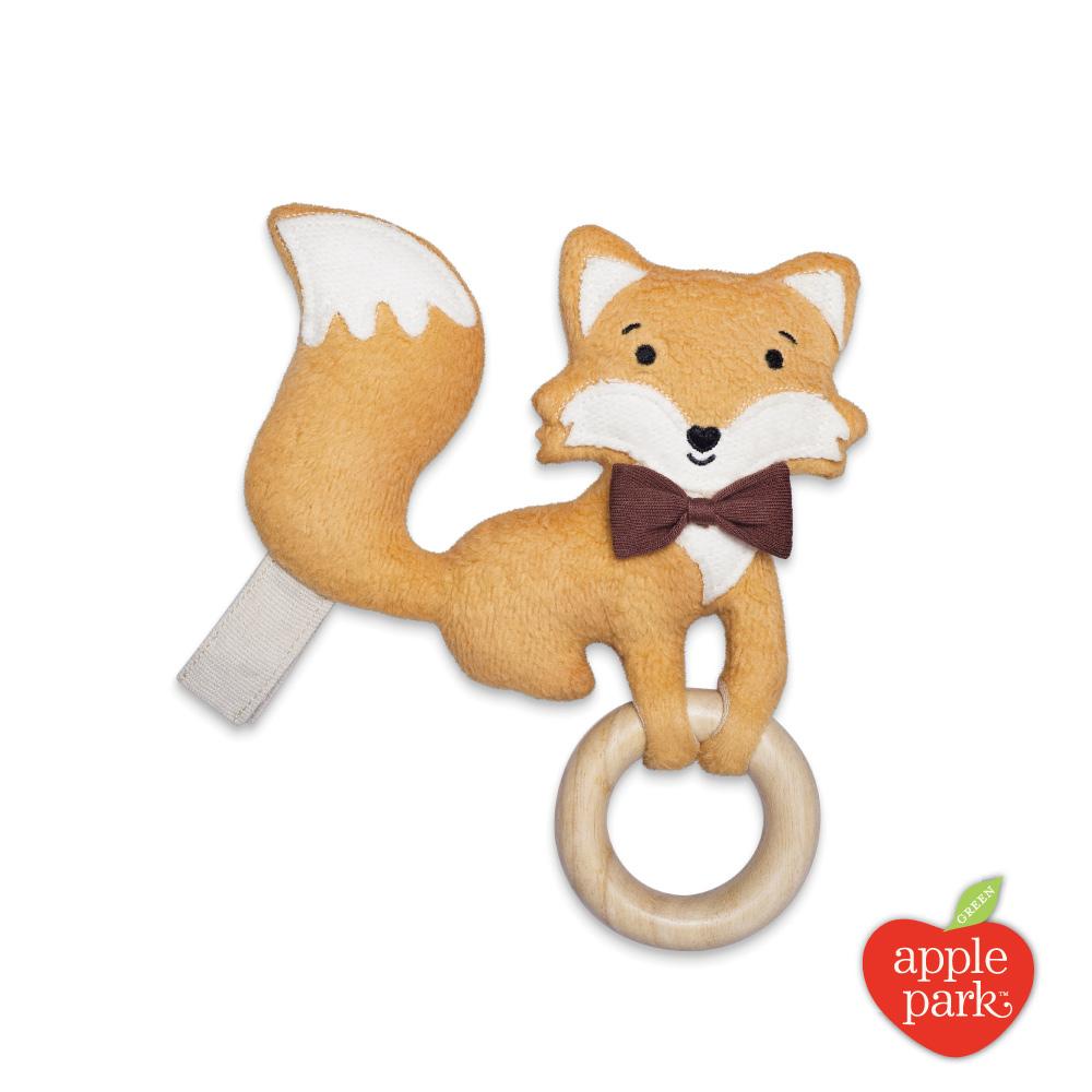 美國 Apple Park 隨身安撫啃咬牙環玩具 - 小狐狸