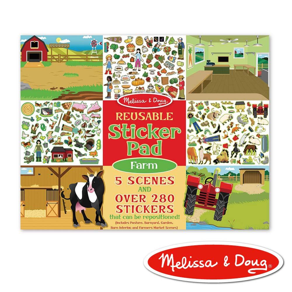 美國瑪莉莎 Melissa & Doug 貼紙簿 - 可重複貼紙 - 農場