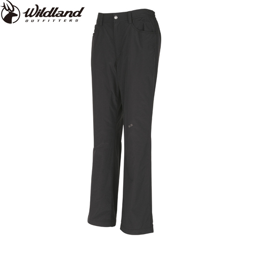 荒野wildland 女防風防潑水保暖長褲-96深鐵灰 W2301-96