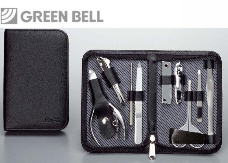 日本GB綠鐘匠之技鍛造鋼修容9件組旅行隨身包(G-3109)