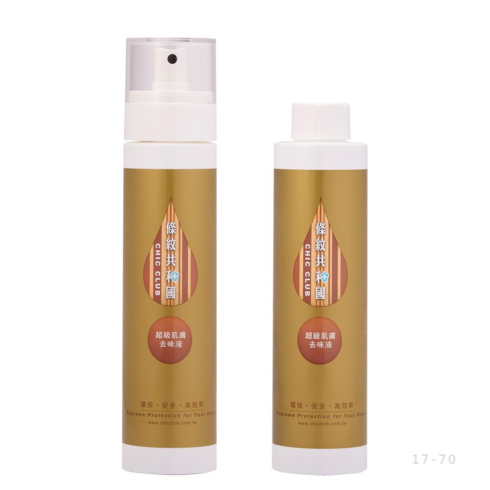 條紋共和國超級肌膚去味液 入門組一入(200ml*2含1噴頭)