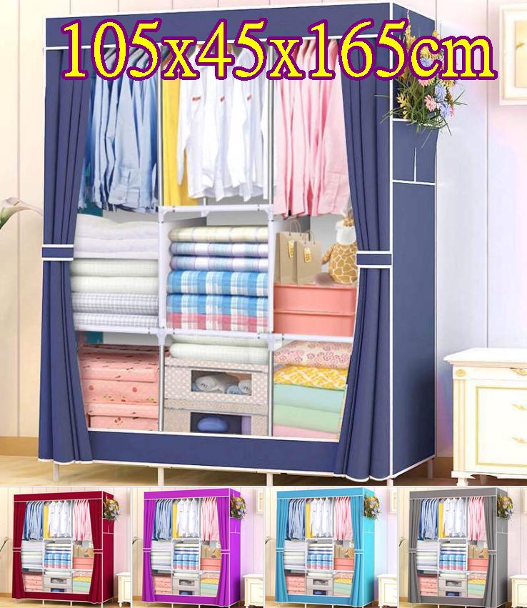簡易韓版組合中號衣櫃 鋼管加粗加厚簡易衣櫃 防塵衣櫃 學生衣櫥 收納櫃