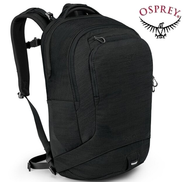 Osprey Cyber 22 多功能透氣網背後背包/筆電包/電腦包/公事包 黑色