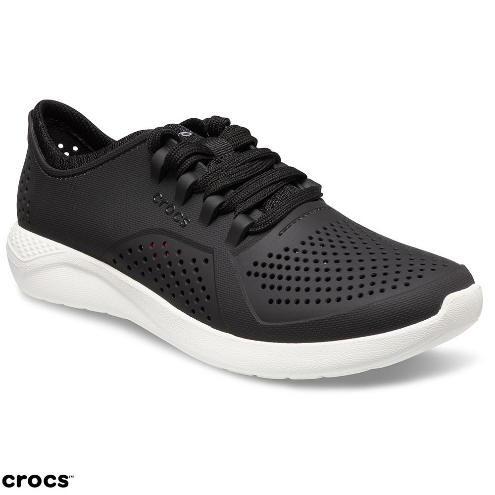 Crocs 卡駱馳 (女鞋) 女士LiteRide徒步繫帶鞋 205234-001